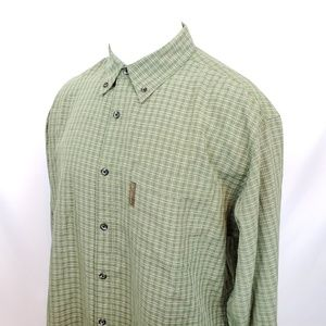 Columbia Mens Shirt Sz Large Green Button Down